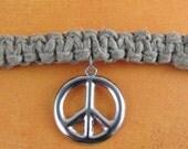Men's Peace Sign Hemp Choker