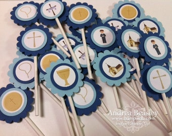 First Communion Cupcake Toppers (12)
