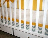 Triple Color Straight Crib Skirt- YOU CHOOSE FABRIC