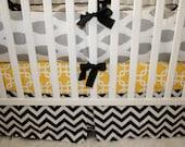 Pleated crib skirt