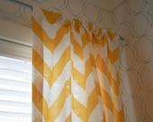 "Custom LARGE Chevron Full Length Curtain Panels (84""x50"") - You pick your details, Designer fabric"