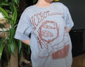 MiCeBoT - Scary Hairy Wolfman - Kids Youth Small Grey T shirt