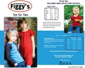Tee for Two Shirt and Dress - Patterns by Figgy's size 12 mo-6/7