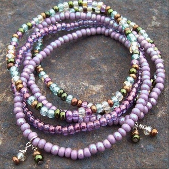Purple Moon Glow Stackable Hippie Stretch Bracelets