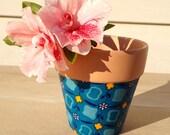 Fabric Clay Pot