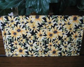 Sunny Sunflowers Fabric Handcrafted Checkbook Cover
