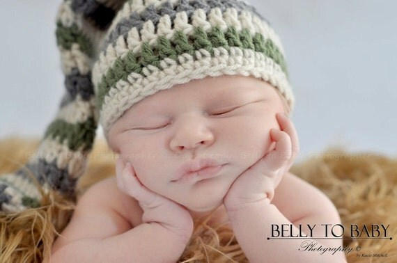 PDF Crochet Pattern - Elf Hat, Extra Long with Tassel  - Newborn to 5 Years - Night Cap Peak Baby Infant Toddler Pointed