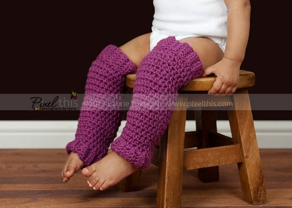 PDF Crochet Pattern - Baby Girl Boy Leg Warmers  (Newborn to 5 Years)