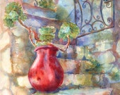 Red French Pot Fine Art Greeting Card