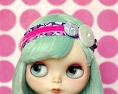Pink and Purple Headband for Blythe
