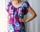 vintage WiLD ViOLET hawaiian maxi dress