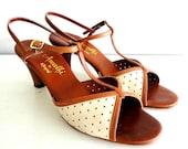 vintage COFFEE BRONZE amalfi italian heels