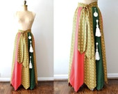 vintage 1960s skirt : holiday boho 60s patchwork skirt by Chessa Davis