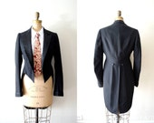 vintage tux jacket  : 1900s edwardian tuxedo jacket with tails by Michael Sterns of Rodchester
