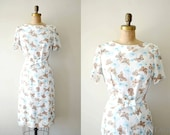 vintage 1960s dress - 60s BUTTERFLY dress / white summer floral