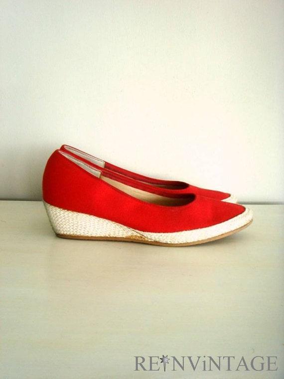 vintage grasshoppers espadrille wedge sandals