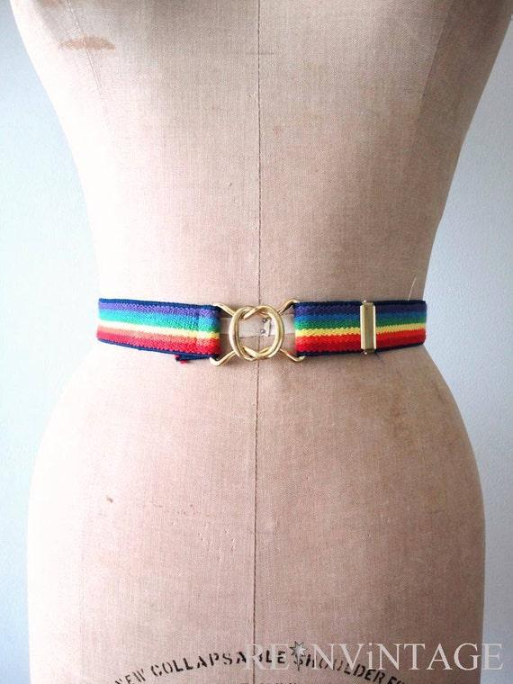 vintage RAiNBOW STRiPE stretchy belt