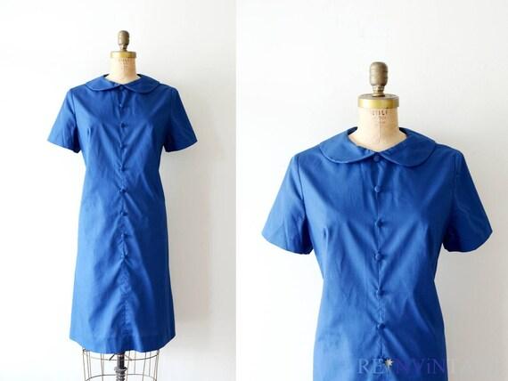 reserved...vintage 1960s dress - 60s shift dress / mod navy cotton