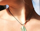 Birds of a feather RECYCLED cd necklace. UPCYCLE cotton cording