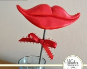 Lips on a STEEL ROD - The Coquette - Red