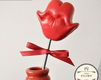 Puckered Smile Prop - The Flirt - Choose PINK or RED