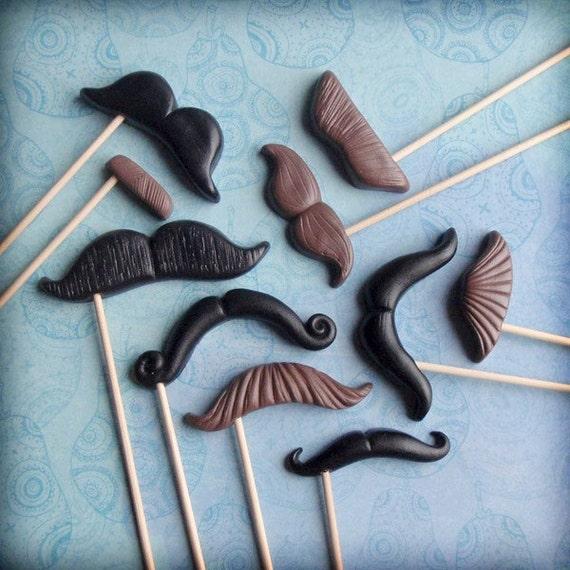 The Twilight Affair - Mustache Props - Set of 10