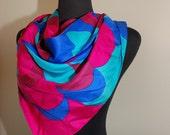 Reserve B-VINTAGE- Designer Scarf  Silk By Jacques Heim