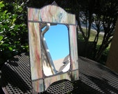Ornate Mirror in Pink and Sage Wispy