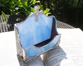Baby Blue and Chocolate Business Card Holder
