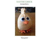 Original Knitting Pattern for Egg-Shaped Easter Chick Amigurumi