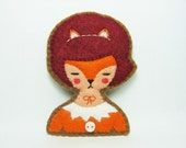 Nana - the face painter - imaginary girl felt pin - made to order