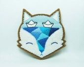 Fox mind - The paved way to unknown felt brooch - made to order