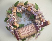 Wine Lover's Kitchen Wreath Giveaway...Less than Half Price SALE TODAY...Perfect Gift for yourself or your loved one...2ND WREATH SHIPS FOR 5 DOLLARS