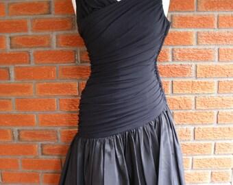 Pin Up Rockabilly Black Wiggle Dress / Vintage Party Dress 40s/50s / RENE ORIGINAL