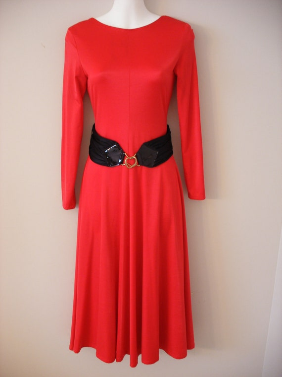 Sexy Red Vintage 80s Dancing Dress