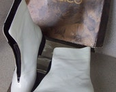 White Patent Leather Boots