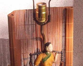 Lady Carries Water...MudFigure Lamp