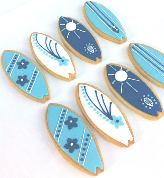 Surf's Up Surfboard Cookies (1 dozen)