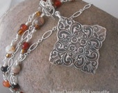 RESERVED for 4mermaids Bohemian Princess Fine Silver Pendant Only