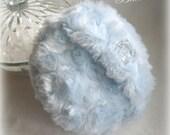 Powder Puff Duster Blue Ice soft plush handmade
