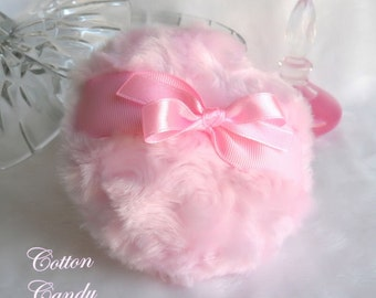 Body Powder Puff - cotton candy pink - handmade bath pouf - gift boxed by Bonny Bubbles