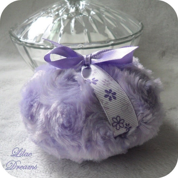 Lavender Powder Puff - Lilac Dreams - purple bath pouf - gift boxed - last one