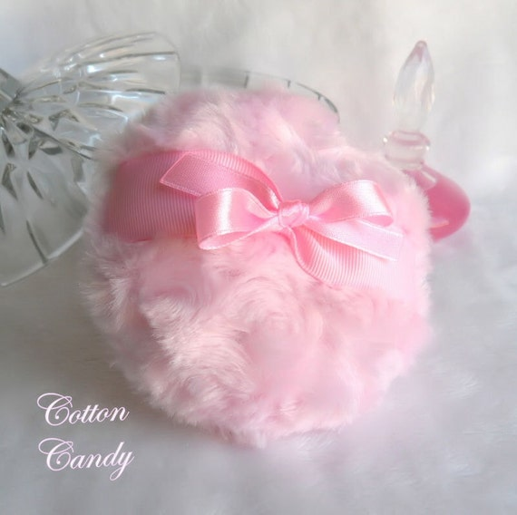 Body Powder Puff - cotton candy pink - handmade bath pouf - gift boxed by Bonny Bubbles