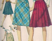 Vintage 60s Sewing Pattern Skirt Pleated A-Line,24 Waist, Simplicity 6646