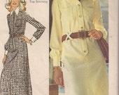 Vintage 70s Dress Pattern Longsleeve Shirt Dress Simplicity 5151, Size 20 1/2 Bust 43 Plus SIze UNCUT FF