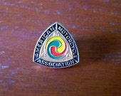 Vintage 60s AMA Lapel Pin American Motorcycle Association Hat Jacket Badge Pin Button