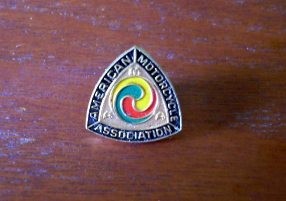 Vintage 60s AMA Lapel Pin American Motorcycle Association Hat Jacket Badge Pin Button