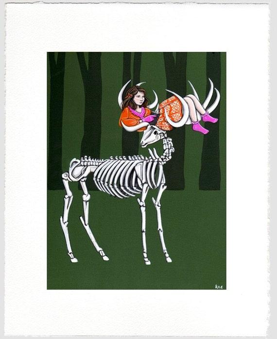 Skeleton Hammock- Print (Limited Edition)