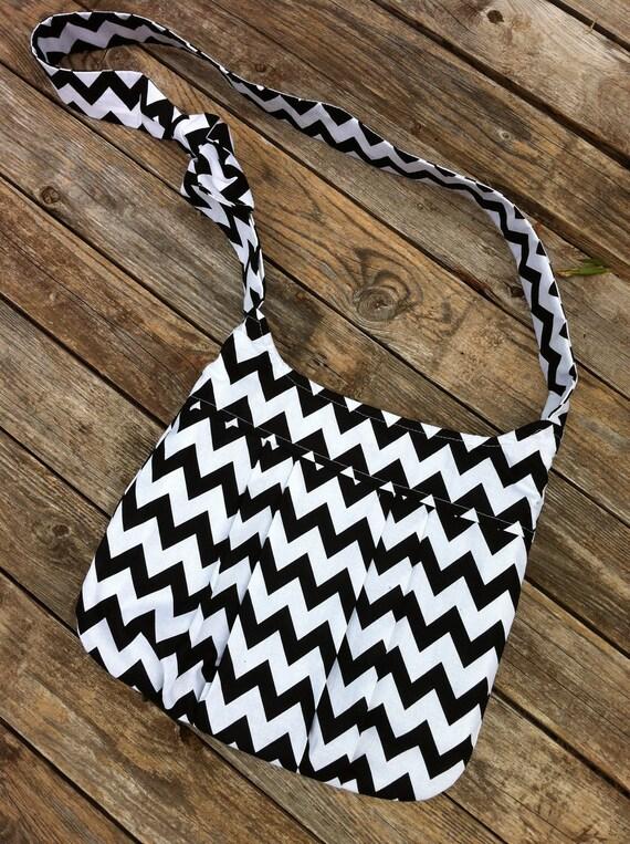 The Chic Hipster - Fabric Messenger/Tote/Purse/Handbag/Crossbody Bag