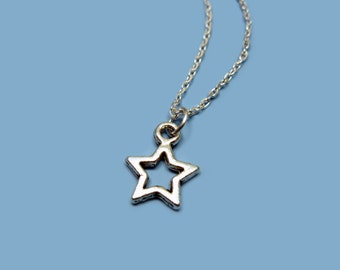 Tiny Star Necklace - stainless steel chain tiny necklace mini necklace cute necklace simple necklace kawaii necklace minimal jewelry small